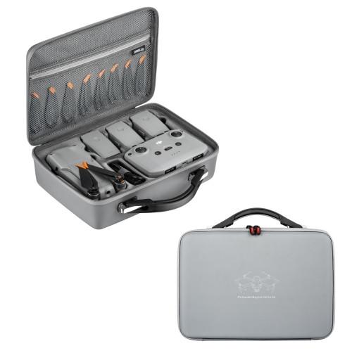STARTRC 1109542 Dedicated Full Accessories Waterproof PU Handbag Storage Bag for DJI Air 2S (Grey)