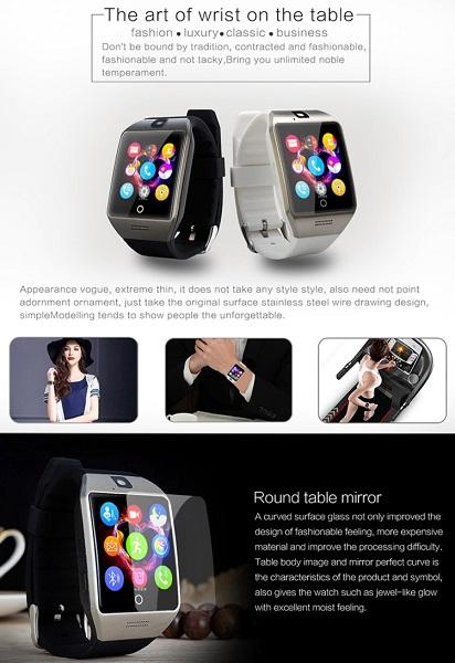 Q18S 1.54 inch Smart Watch White Silver